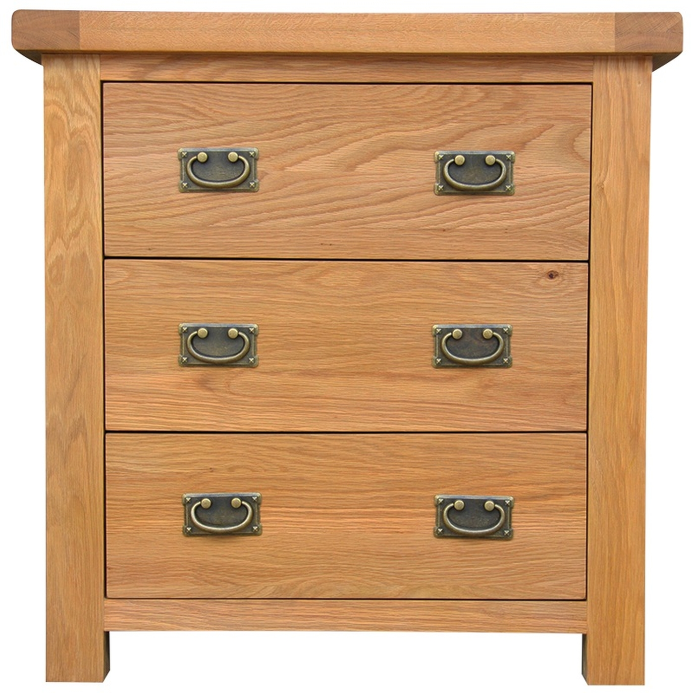 Ribble solid oak furniture small bedroom chest of drawers