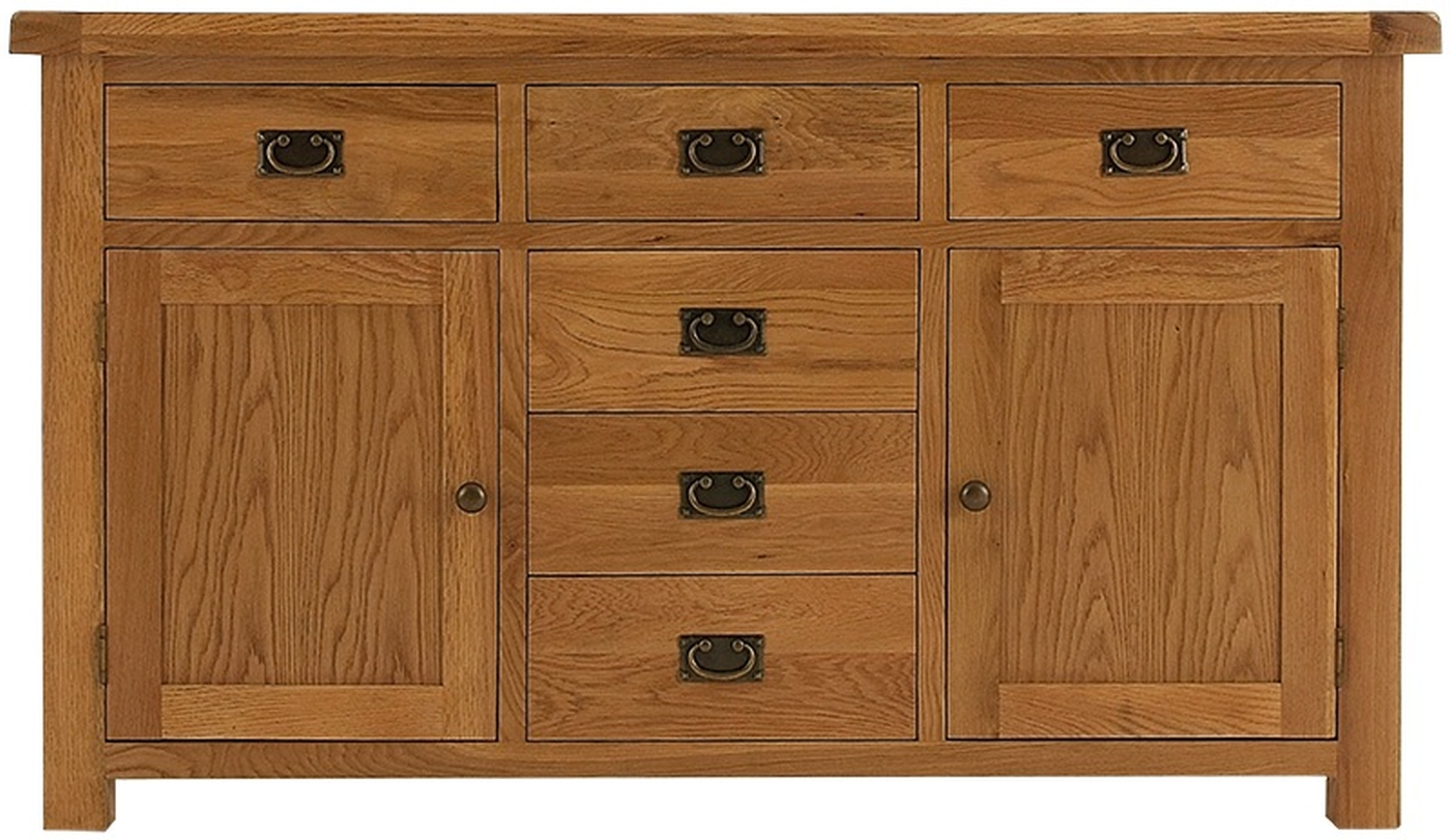 Ribble Solid Oak Furniture Large Living Dining Room Sideboard EBay. Full resolution  portraiture, nominally Width 1400 Height 812 pixels, portraiture with #7D4D26.