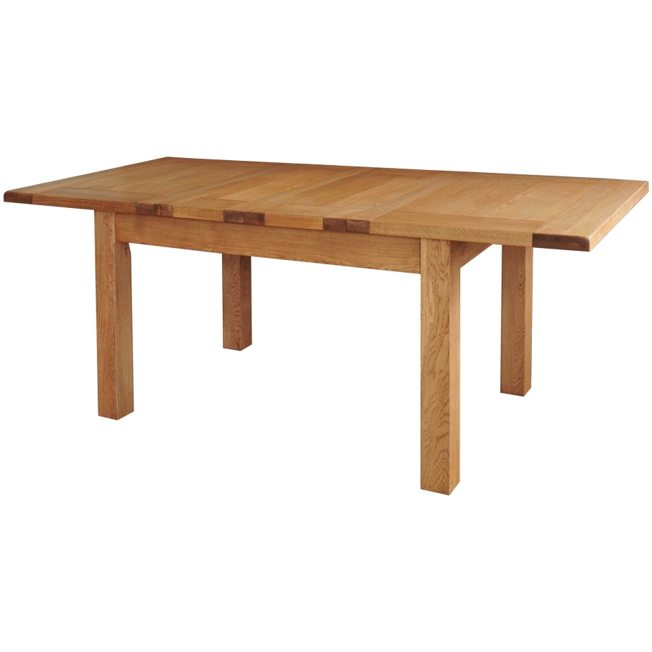 Grasmere solid oak dining room furniture extending dining for Solid oak dining table