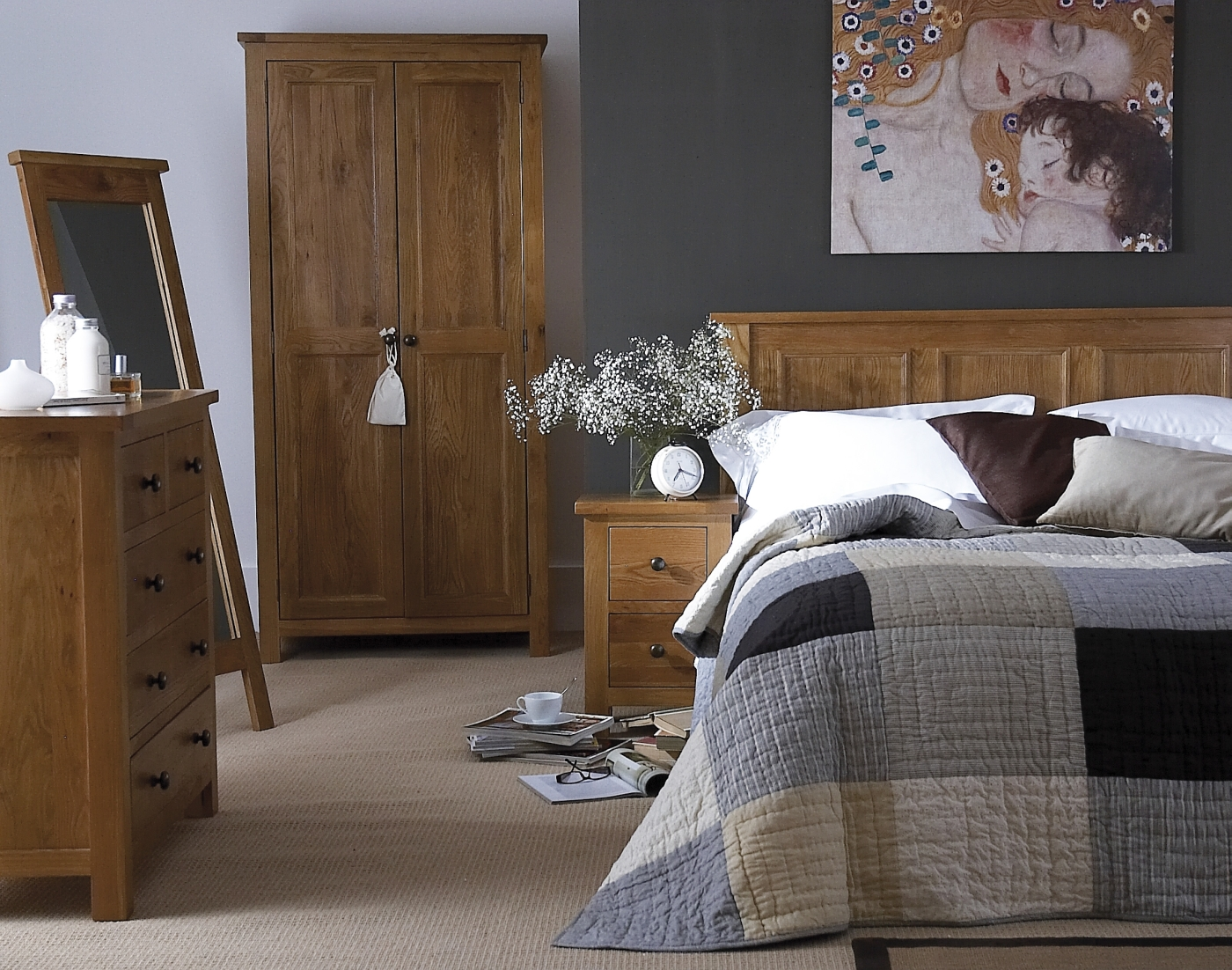 Holmfield Solid Oak Furniture Small Bedroom Chest Of Drawers EBay