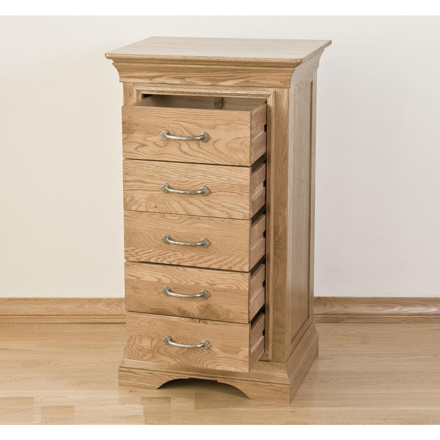 Toulon solid oak furniture bedroom tallboy wellington for Furniture wellington