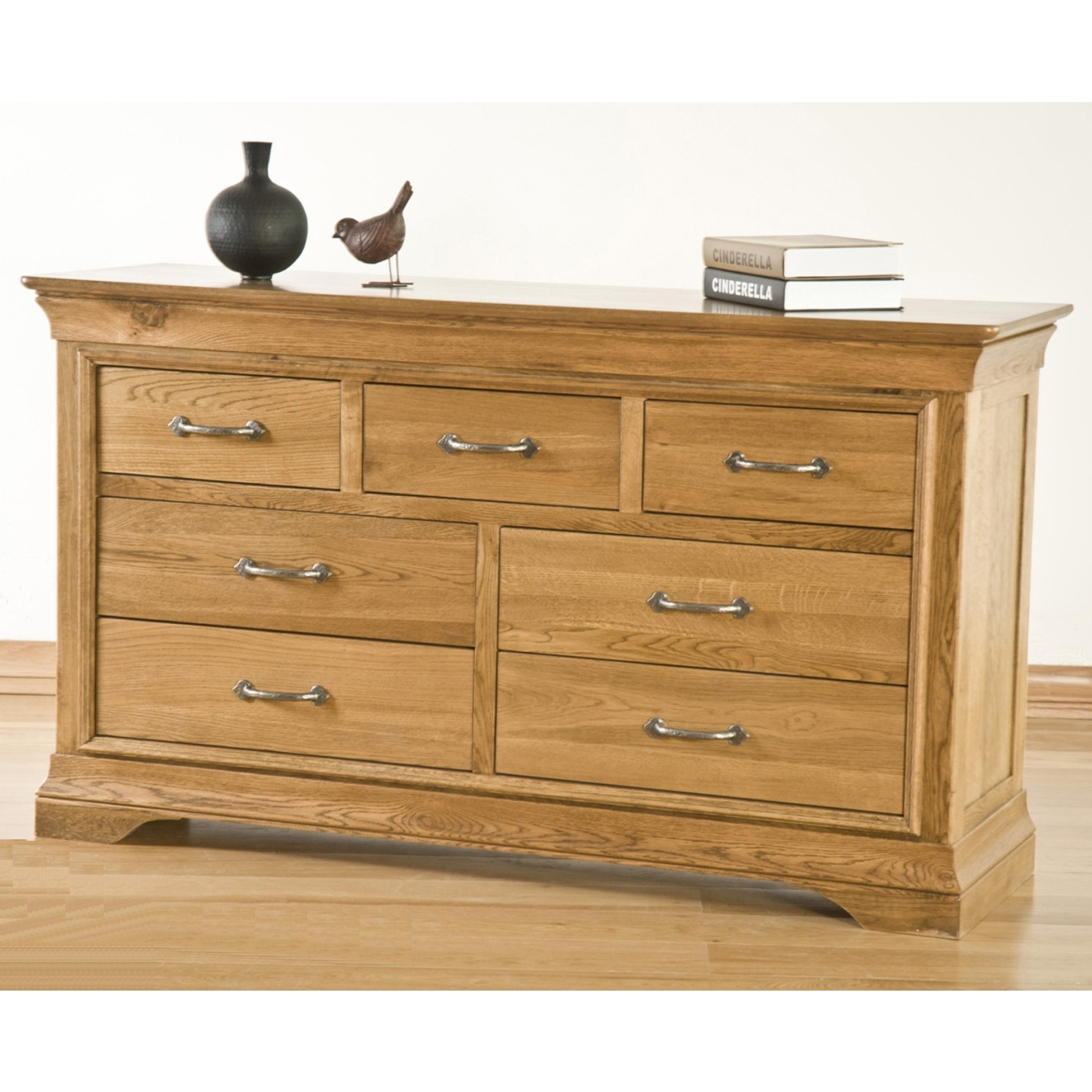 Toulon Solid Oak Furniture 3 Over 4 Bedroom Chest Of Drawers Ebay