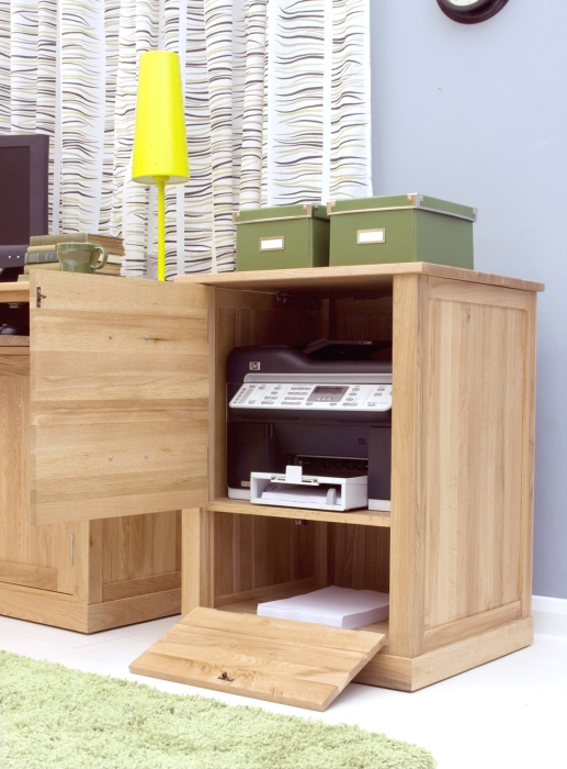 Attirant Nara Solid Oak Office Computer Desk Furniture Printer Storage Cupboard  Cabinet