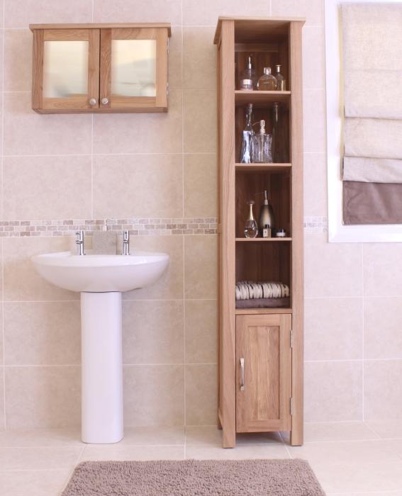 Mobel solid oak furniture bathroom cabinet unit storage and felt ...
