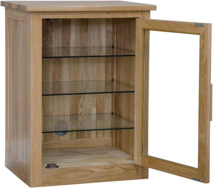 Modern Hifi arden solid oak hi fi stereo storage cabinet modern living room