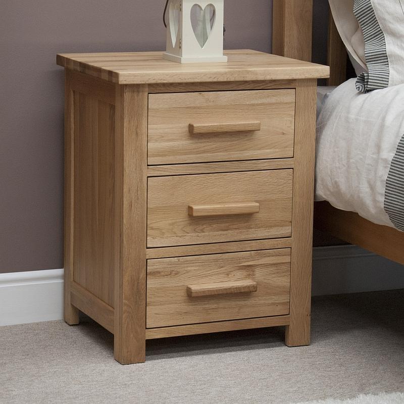 Windsor solid oak bedroom furniture bedside cabinet table stand ...