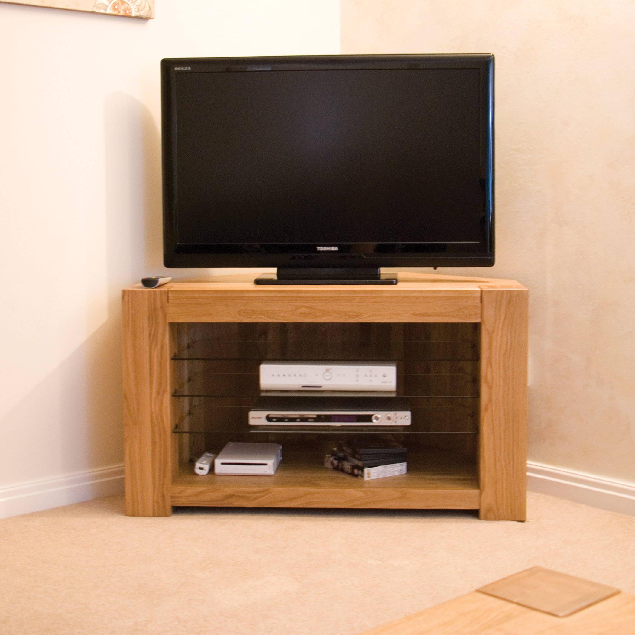 padova solid oak furniture corner television cabinet stand. Black Bedroom Furniture Sets. Home Design Ideas