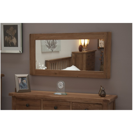 Warwick solid oak hallway living room furniture large wall for Big wall mirror for living room