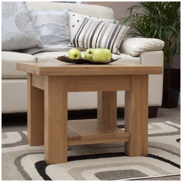 Details About Mardale Solid Oak Furniture Small Square Coffee Table