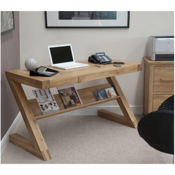 Zouk Solid Oak Designer Furniture Laptop Office Pc