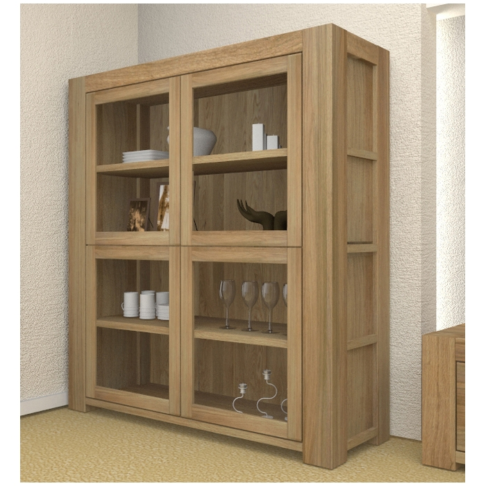 oak display cabinets for living room atlas solid chunky oak living room furniture large glazed 26908