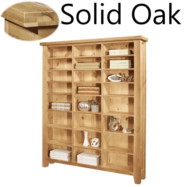 Lyon Solid Oak Furniture Large Cd Dvd Media Storage Cabinet Rack Shelves Ebay
