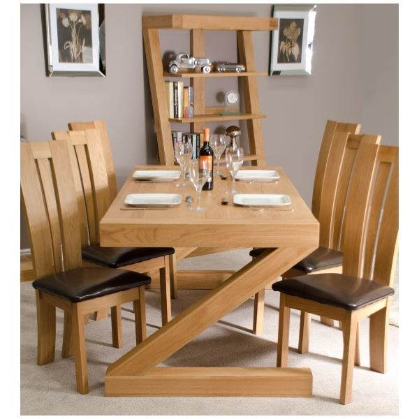 83908a7df7 Details about Zouk solid oak designer furniture large chunky dining room  table