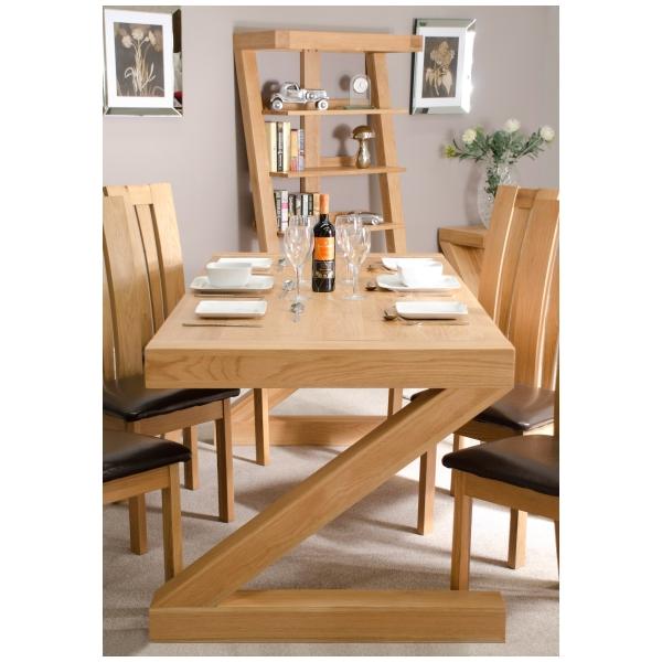 zouk solid oak designer furniture large chunky dining room table