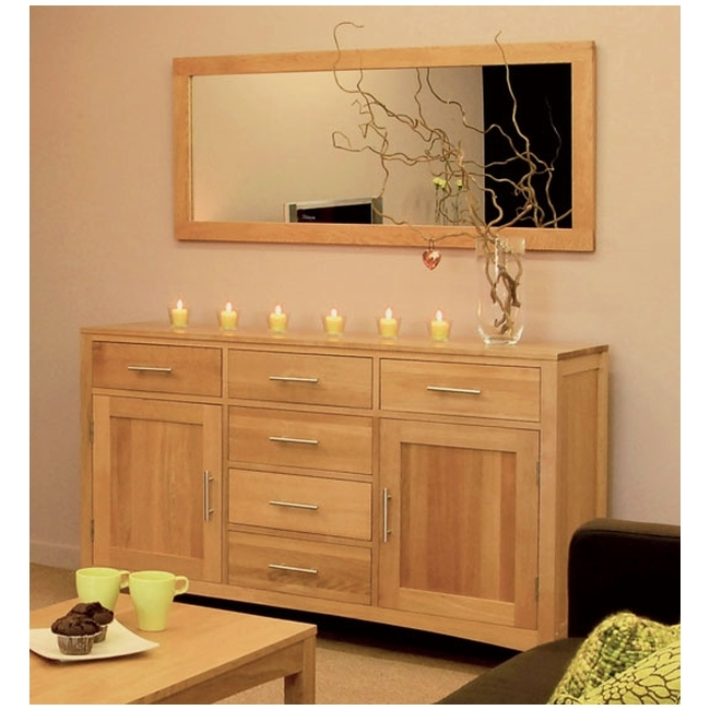 Condor solid oak dining room furniture large sideboard ebay for Dining room sideboard