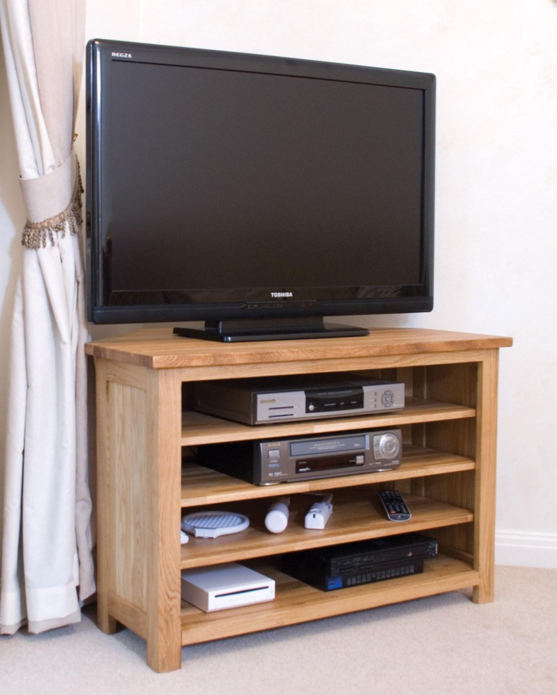Living Room Furniture For Corner Cabinet: Eton Solid Oak Living Room Furniture Corner Television