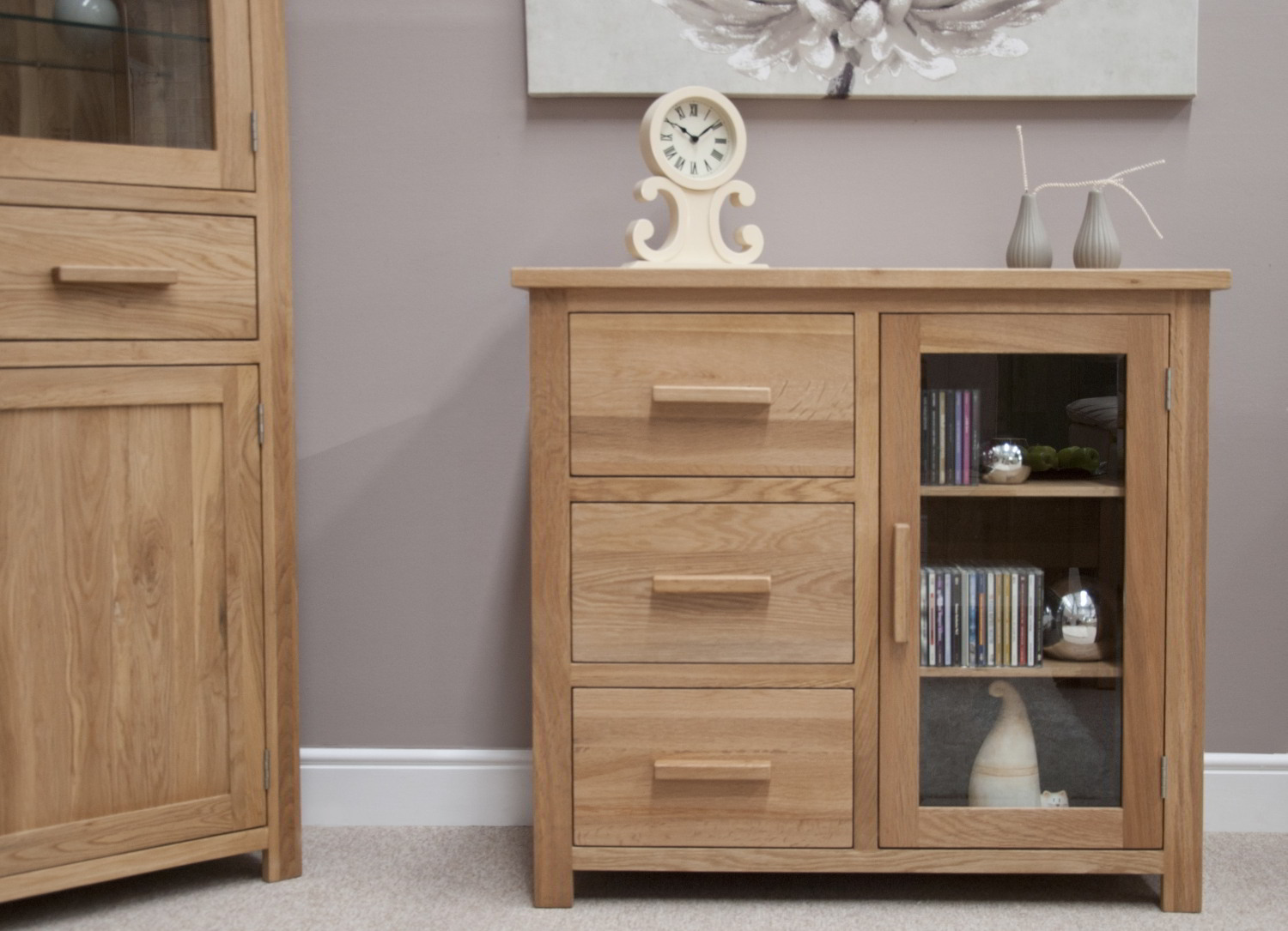 Eton Solid Oak Furniture Small Glazed