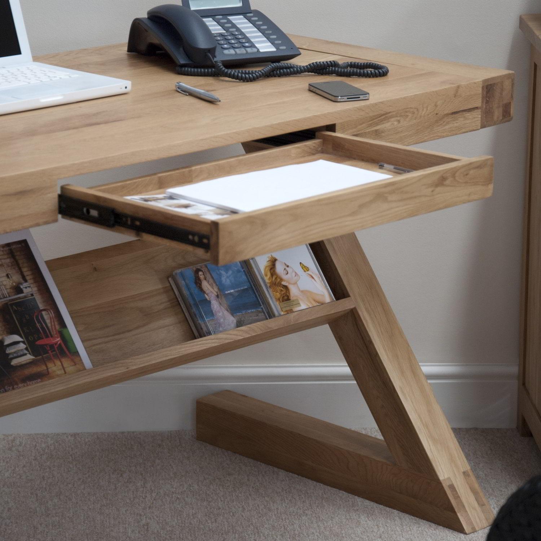 Eton solid oak modern furniture laptop office pc computer z desk