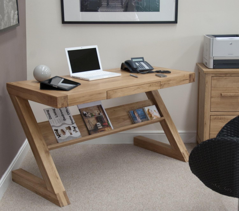 Details about eton solid oak modern furniture laptop office pc computer z desk