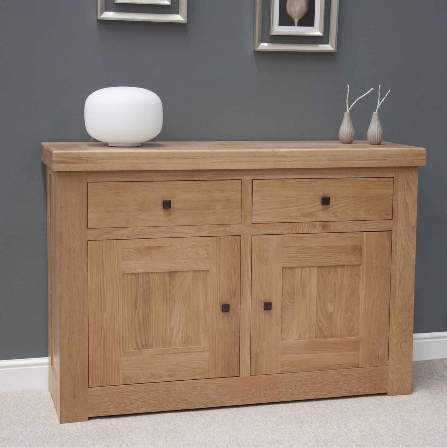 Belgrave Solid Premium Oak Living Dining Room Furniture Small Storage  Sideboard Part 13