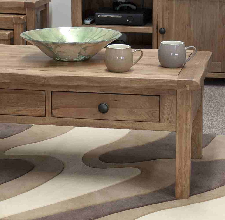 Tilson solid rustic oak living room lounge furniture coffee table