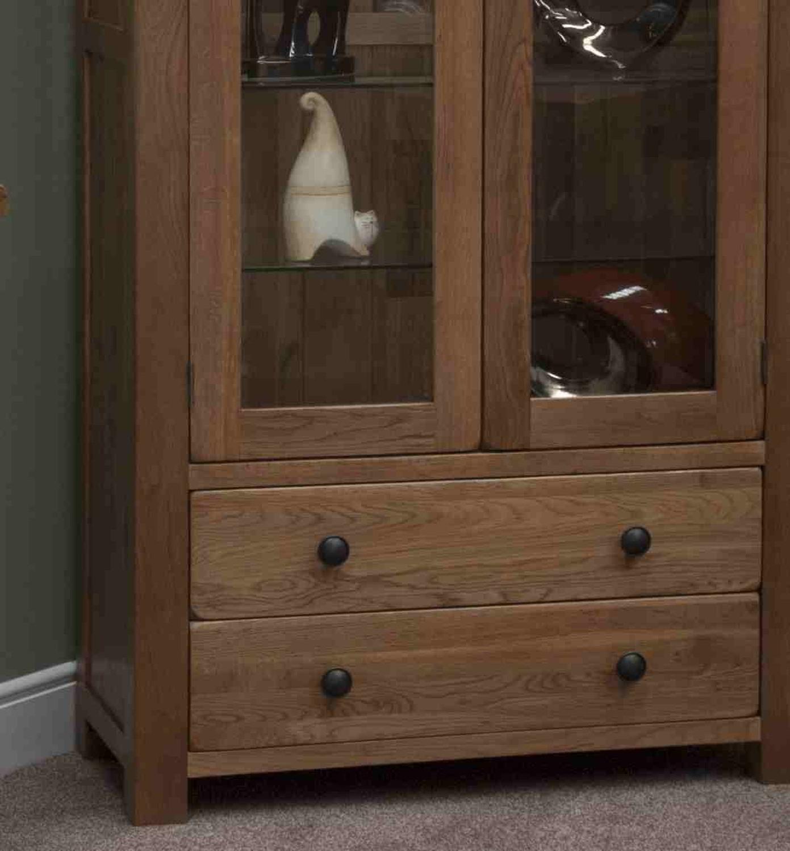 marvellous solid oak living room furniture | Tilson solid rustic oak living room furniture glass ...