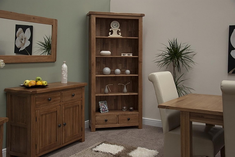 marvellous solid oak living room furniture | Tilson solid rustic oak living room office furniture large ...