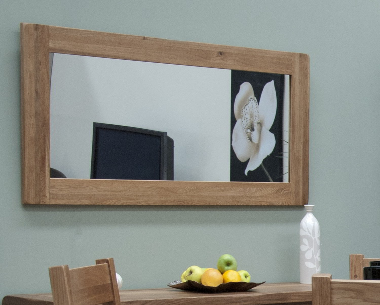 Tilson Solid Rustic Oak Hallway Living Room Furniture Large Wall Mirror