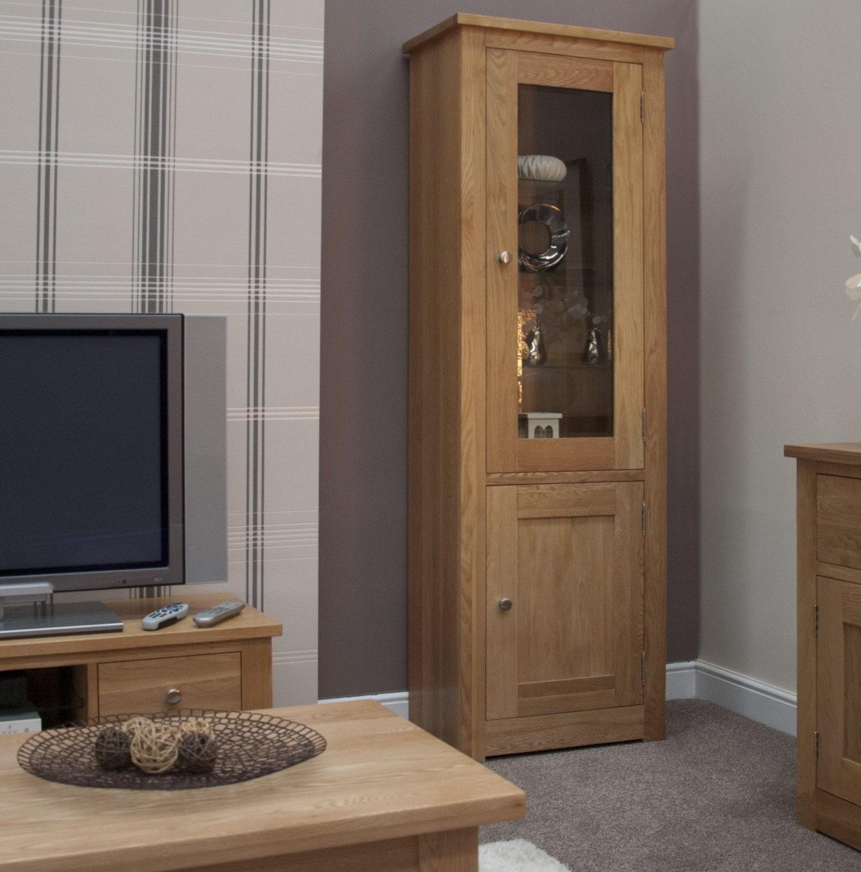 marvellous solid oak living room furniture | Kingston solid oak living room furniture glazed display ...