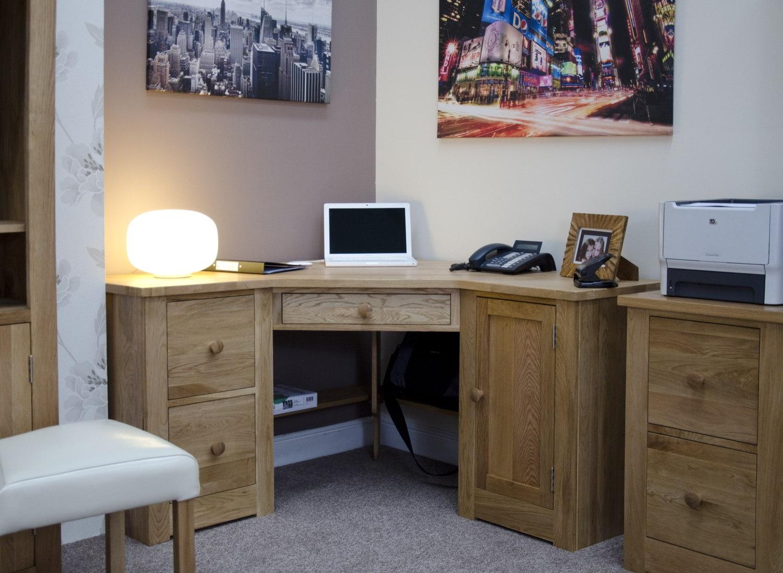 Kingston Solid Modern Oak Furniture Office Corner Pc Computer Desk