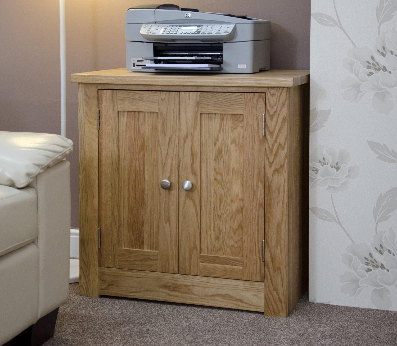 Kingston Solid Oak Office Computer Furniture Printer Storage Cupboard