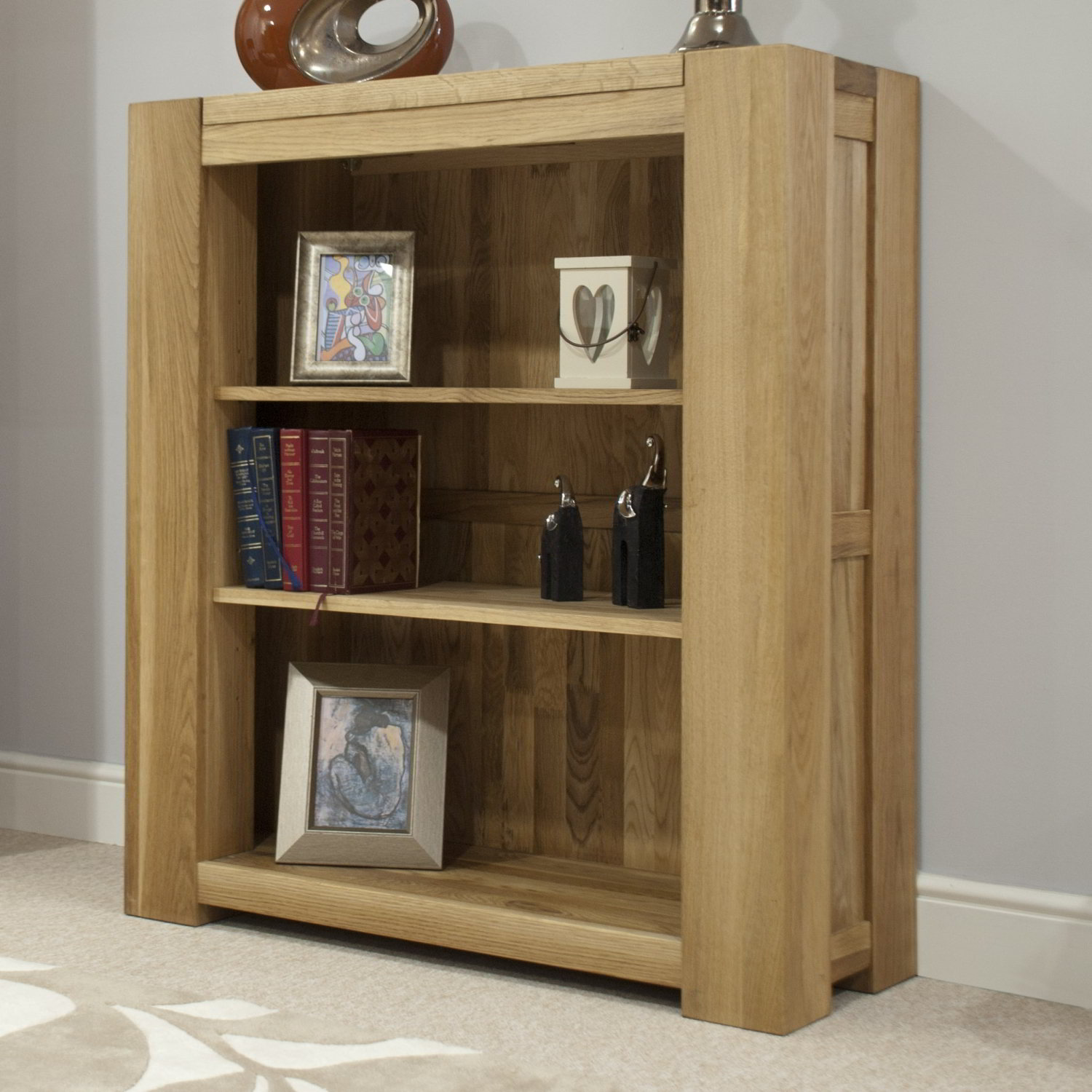 Details About Pemberton Solid Oak Furniture Small Living Room Office Bookcase