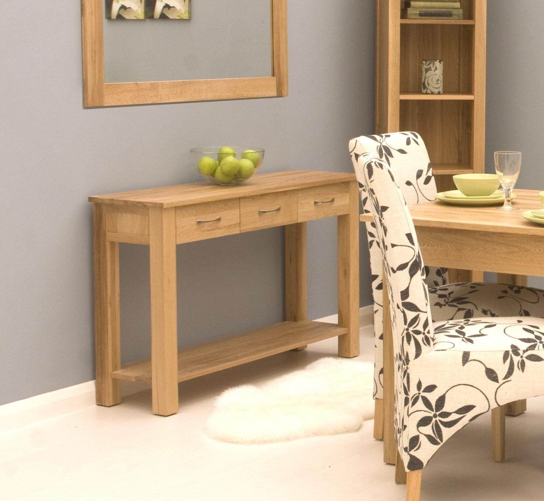 All Modern Foyer Tables : Conran solid oak modern furniture console hallway hall