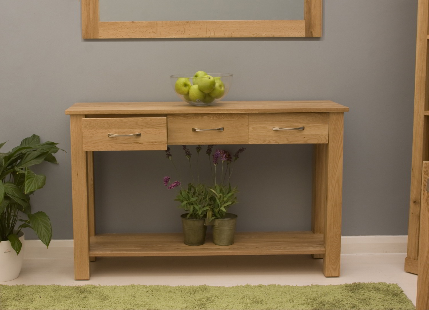 Conran Solid Oak Modern Furniture Console Hallway Hall Table Ebay