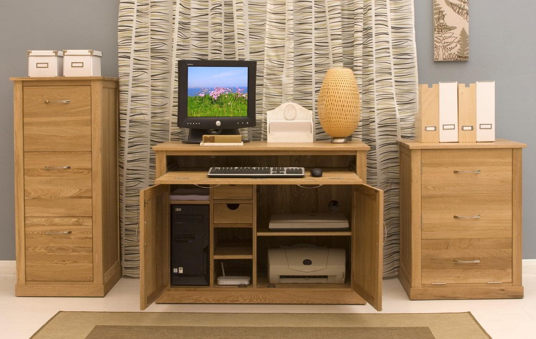 Conran Solid Oak Modern Furniture Hidden Home Office