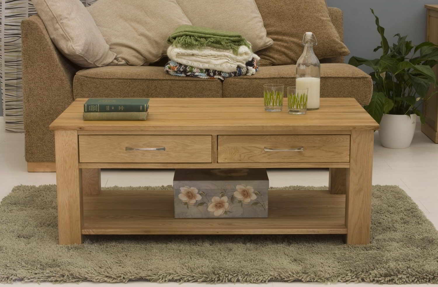 living room table with drawers conran solid oak living room lounge furniture four drawer 23362