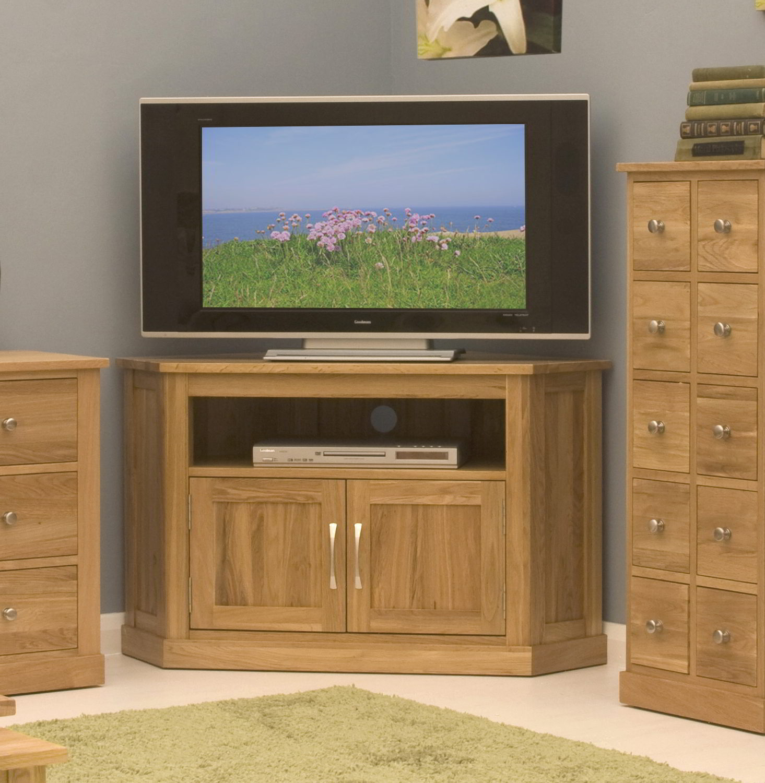 Living Room Furniture For Corner Cabinet: Conran Solid Oak Living Room Furniture Corner Television