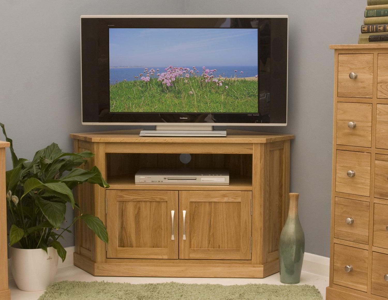Conran Solid Oak Living Room Furniture Corner Television