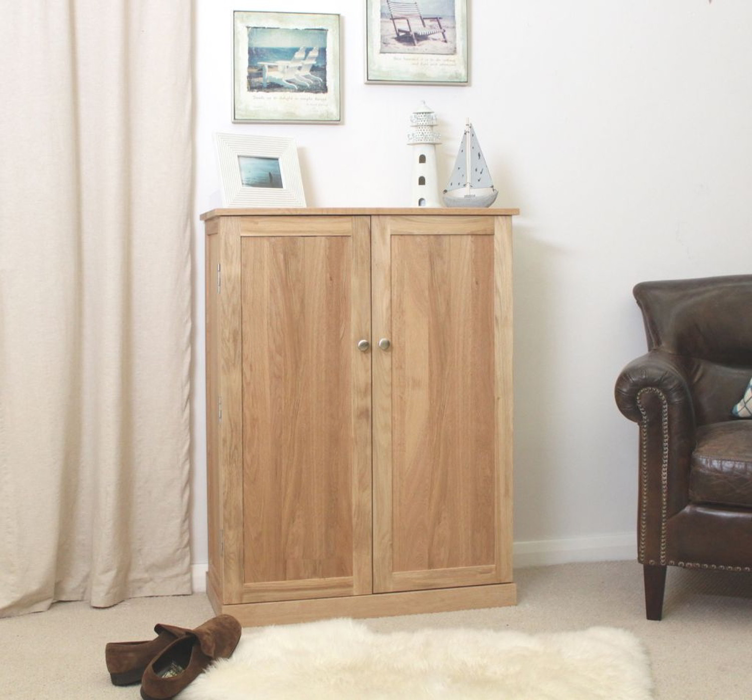 Mobel Solid Oak Furniture Shoe Storage Hallway Bench: Conran Solid Oak Furniture Large Hallway Shoe Storage