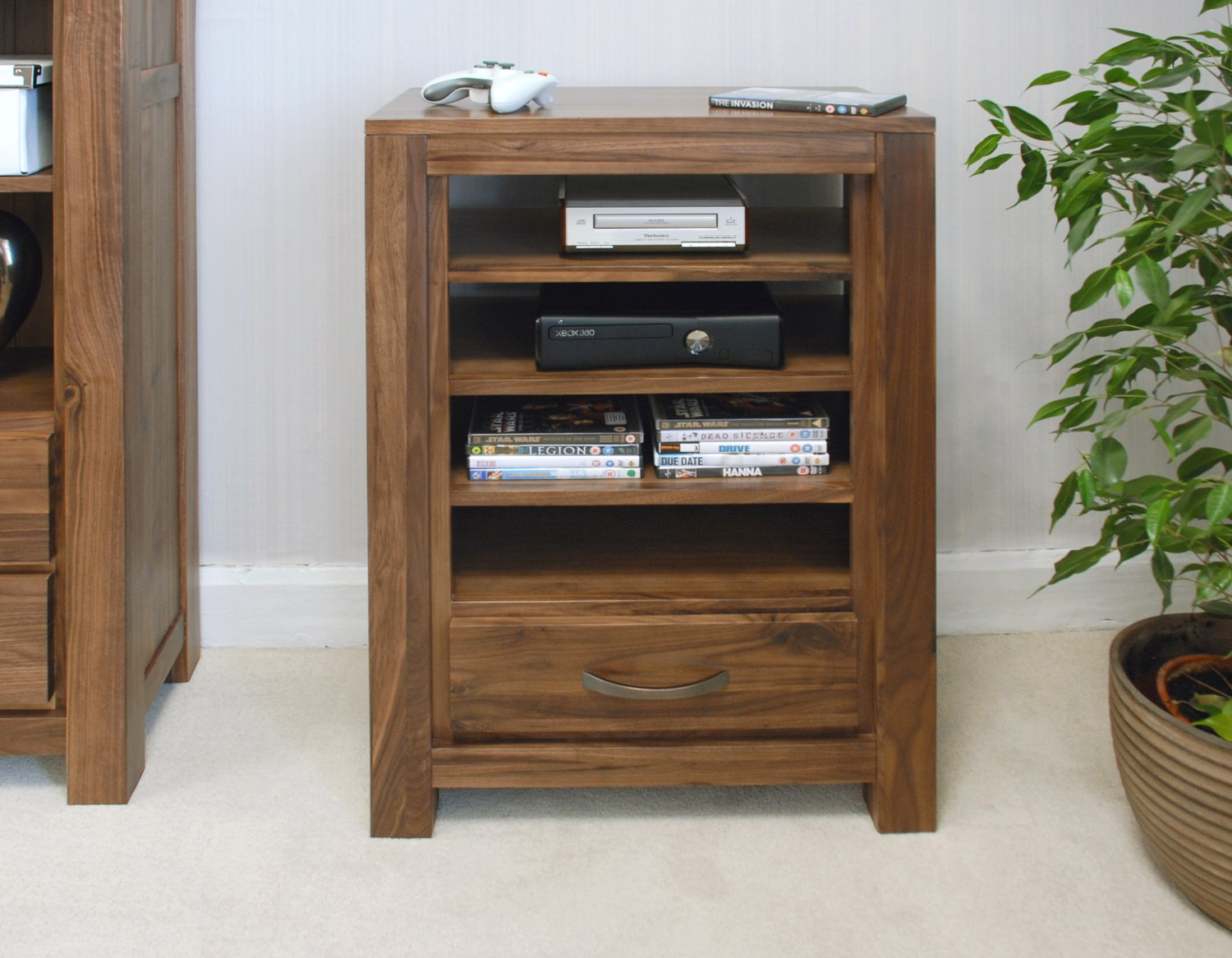 storage console cabinet linea solid walnut home furniture entertainment console tv 26867
