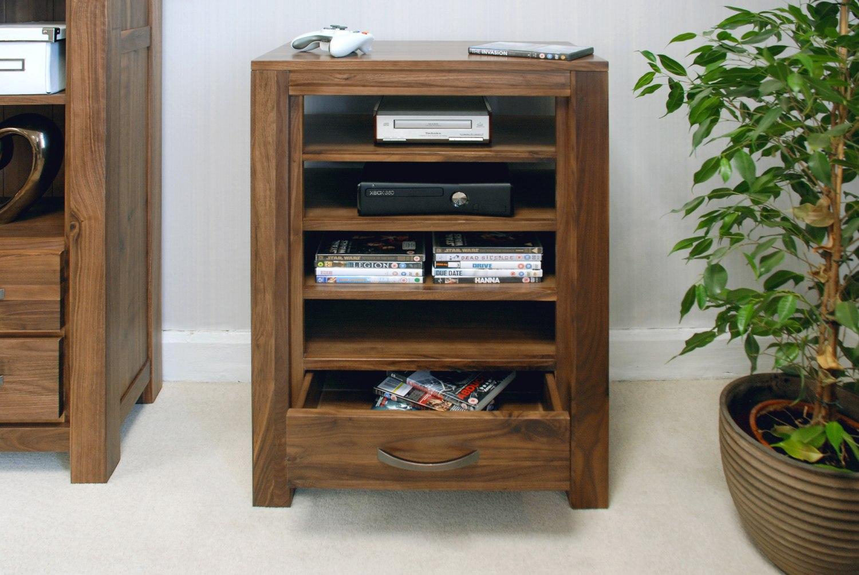Linea solid walnut home furniture entertainment console TV cabinet ...