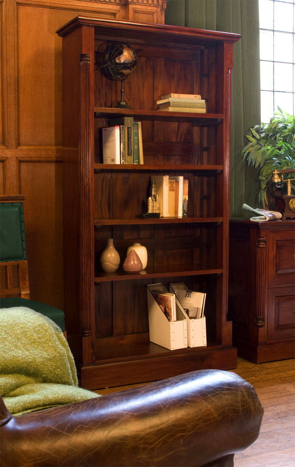 Chateau solid mahogany furniture large living room office bookcase