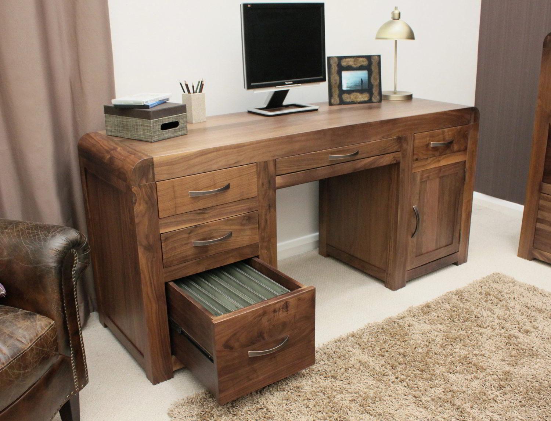 strathmore solid walnut furniture shoe cupboard cabinet. Strathmore Solid Walnut Home Furniture Large Office PC Computer Desk Shoe Cupboard Cabinet