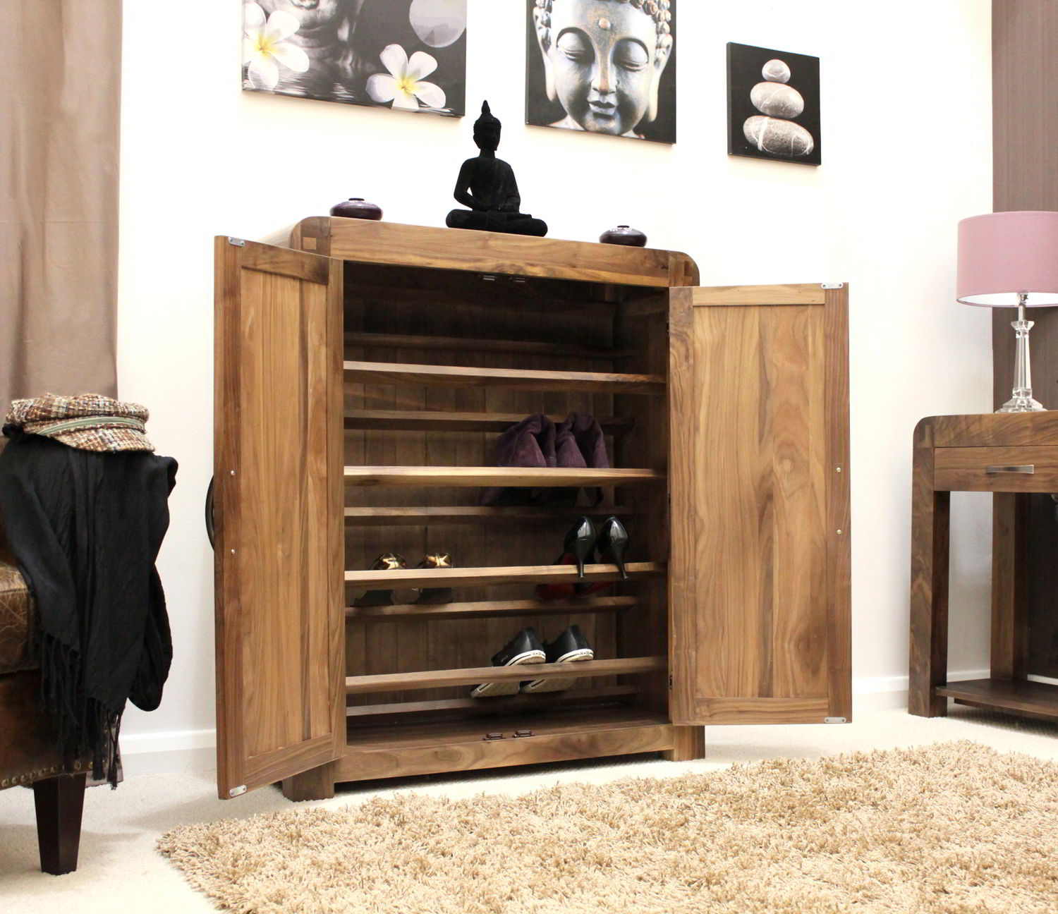 strathmore solid walnut home furniture hallway shoe storage cabinetcupboard rac. strathmore solid walnut home furniture hallway shoe storage