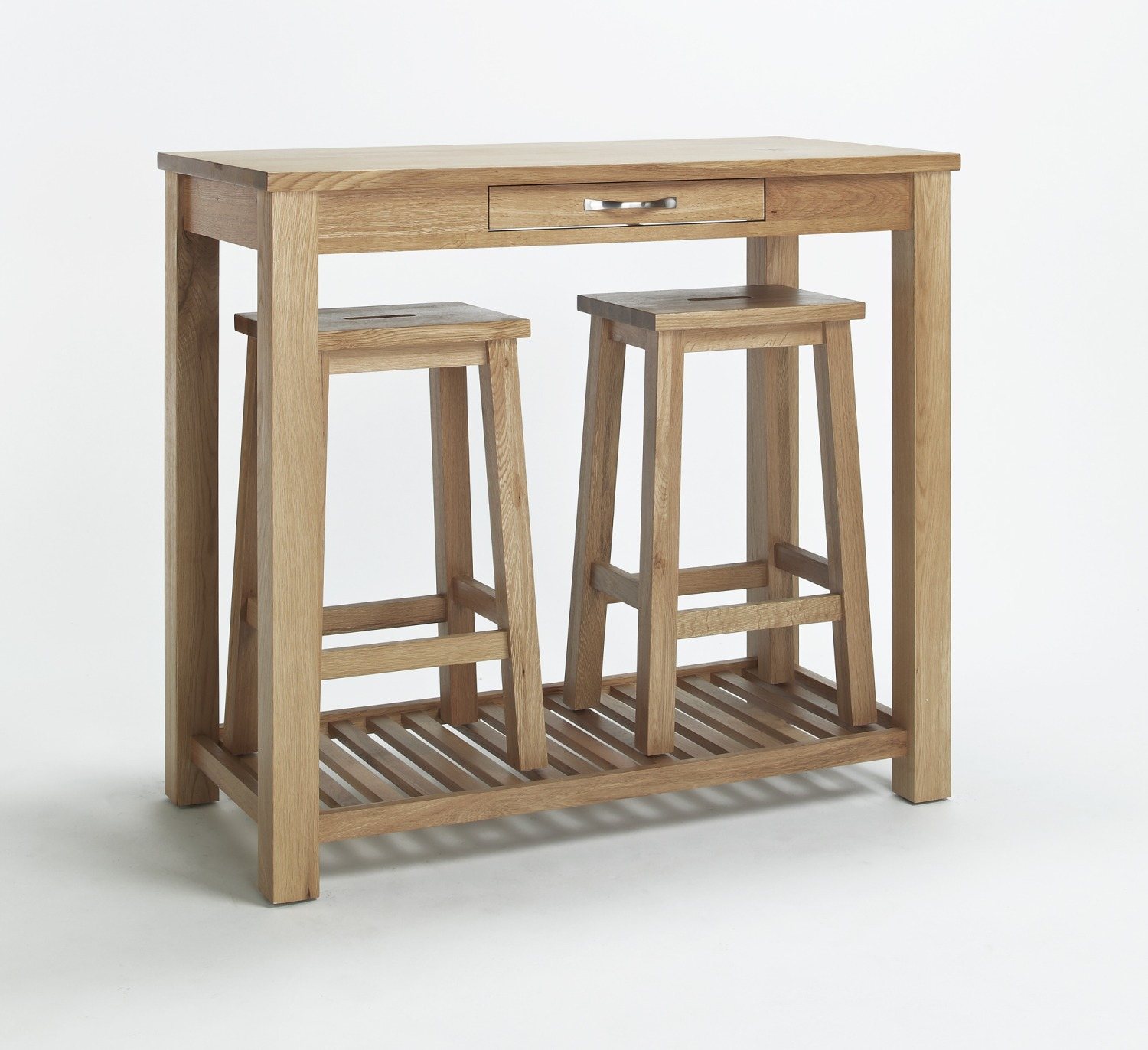 Compton Solid Oak Kitchen Furniture Breakfast Dining Table