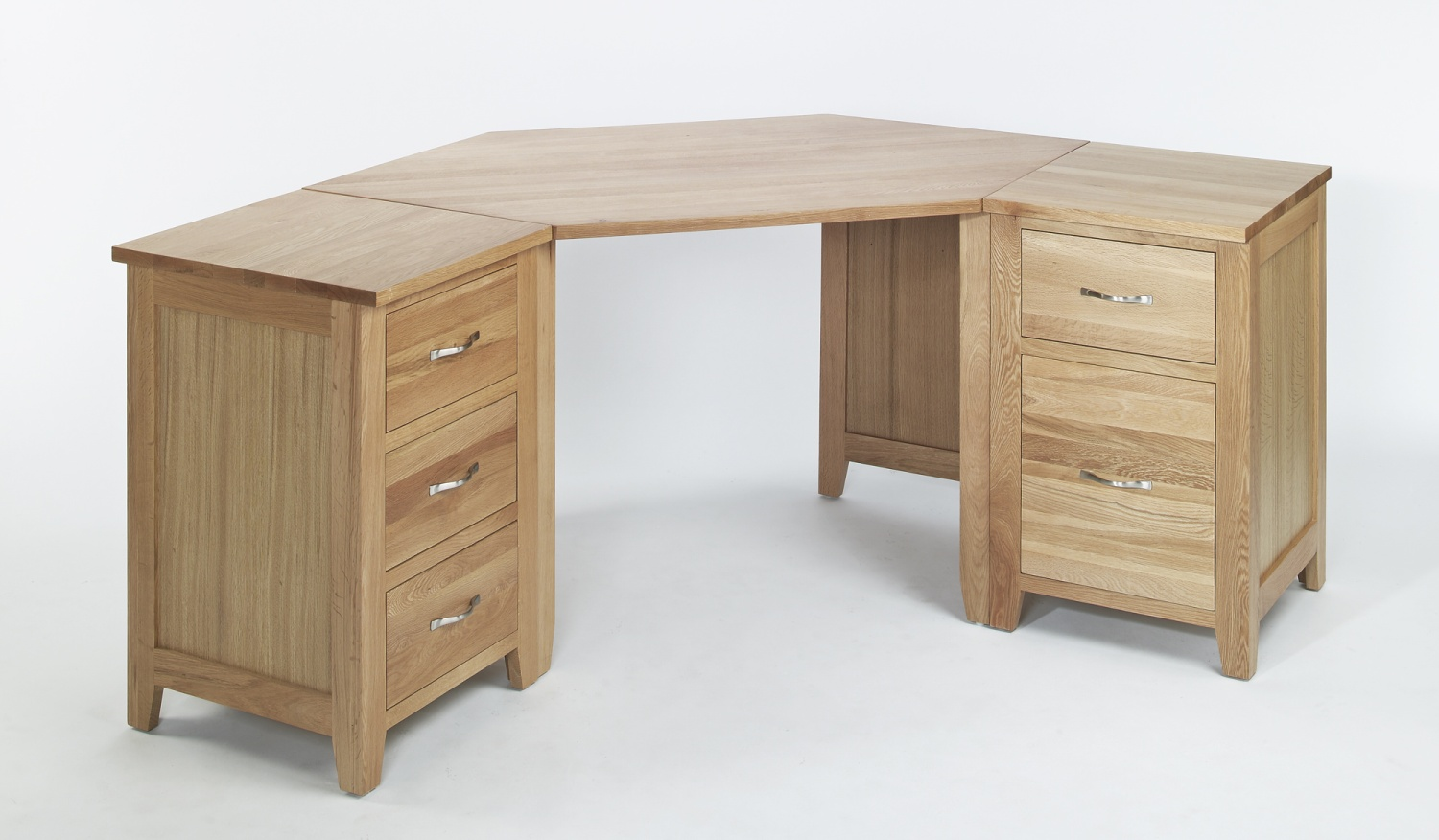 Compton solid oak furniture corner office pc computer desk for Solid oak furniture
