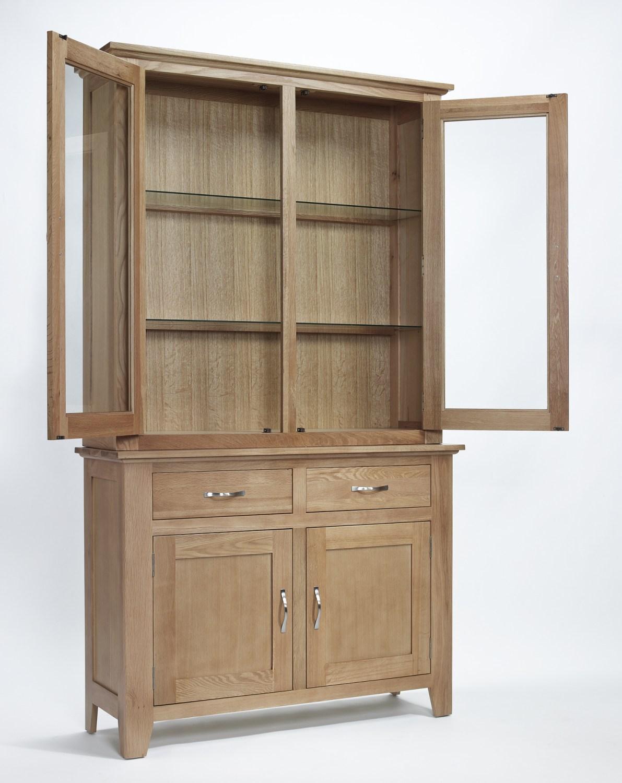 Compton Solid Oak Furniture Dining Room Dresser Display Cabinet