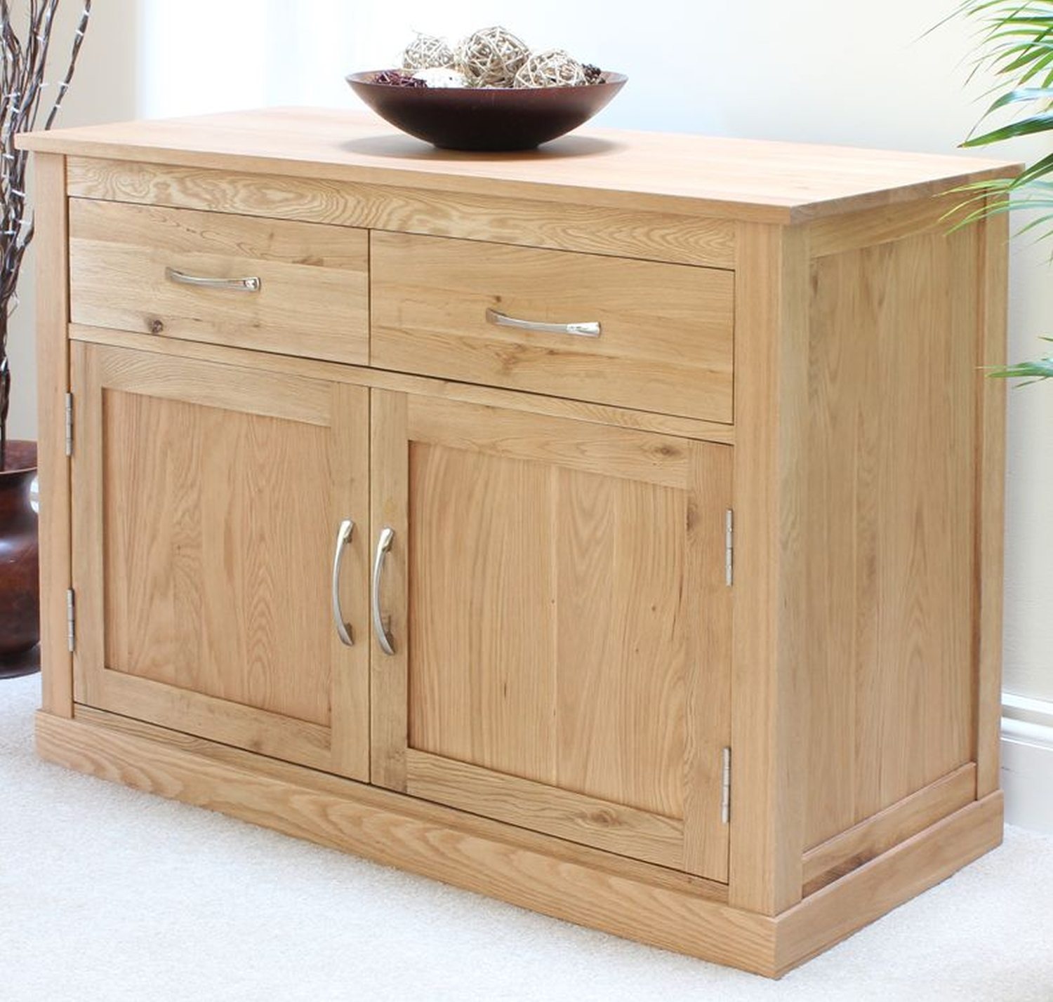 Storage Living Room Furniture: Conran Solid Oak Furniture Sideboard Small Living Dining