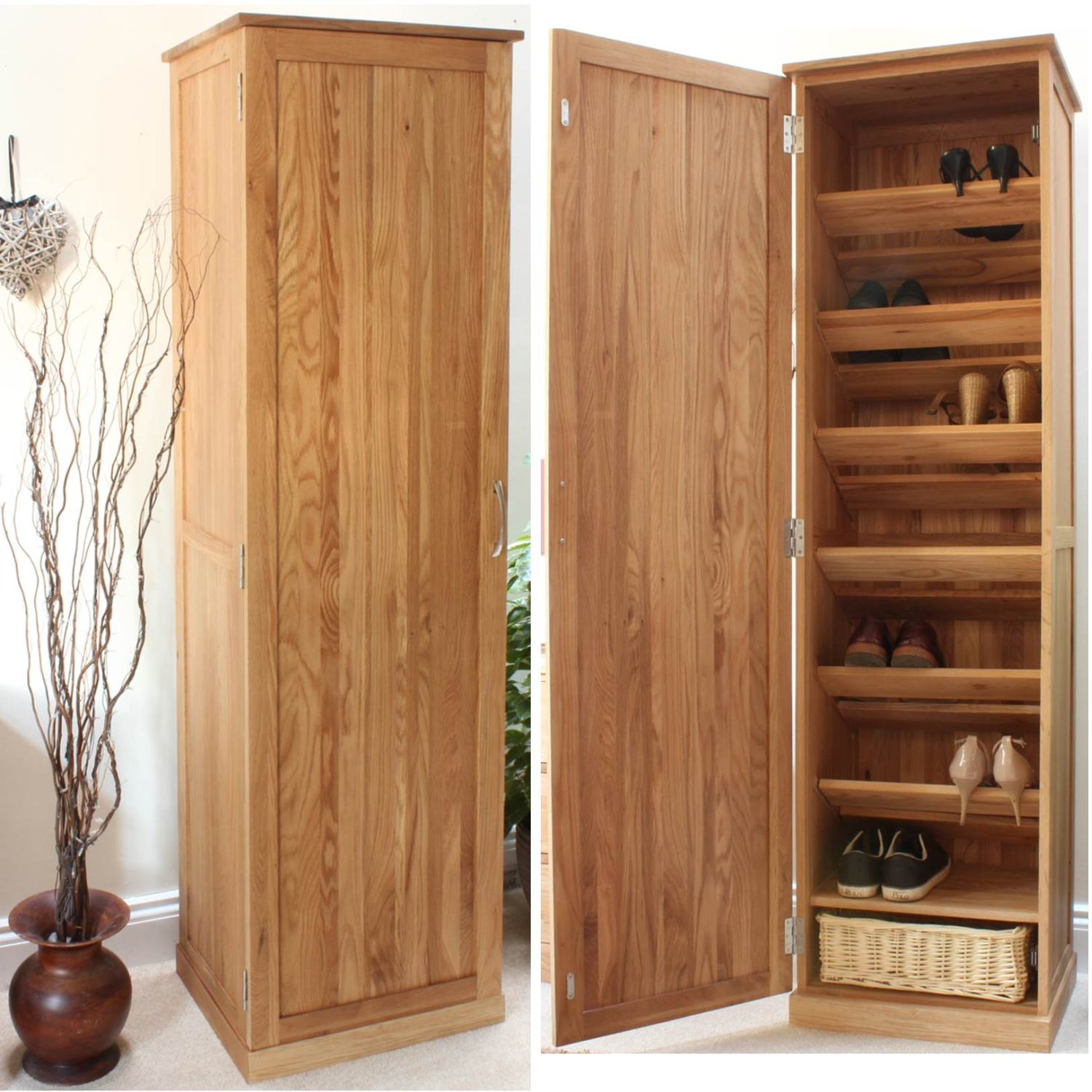 shoe storage hallway furniture. conran solid oak furniture shoe cupboard cabinet tall hallway storage unit