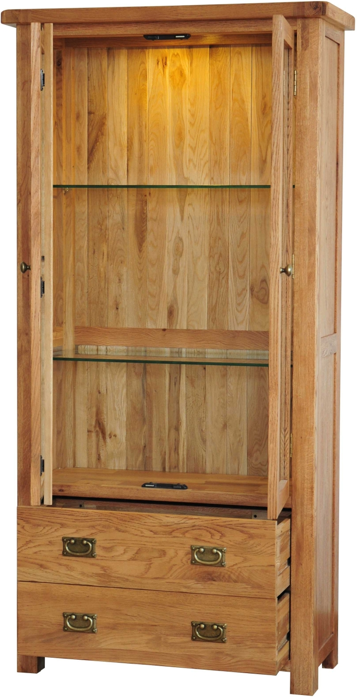 oak display cabinets for living room grasmere solid oak living room furniture glazed display 26908